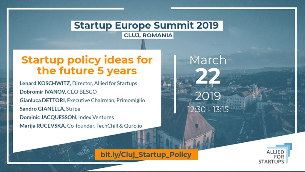 startup policy recommendations
