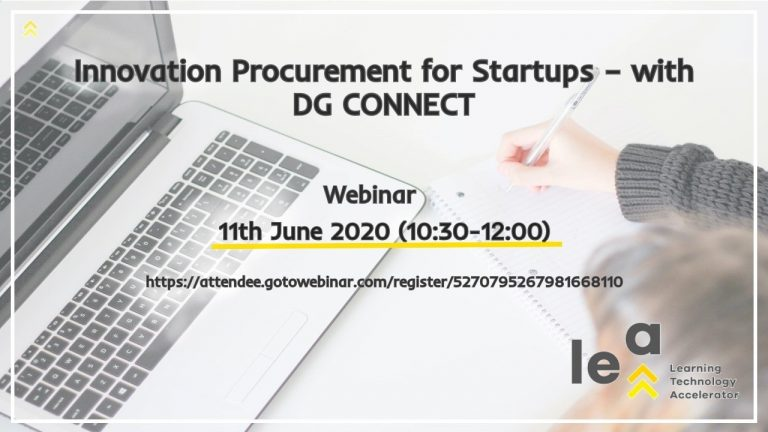 Innovation Procurement for Startups – with DG CONNECT