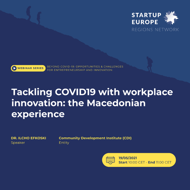 Beyond COVID19: Opportunities and Challenges for Innovative Entrepreneurship